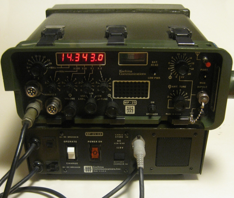 KACHINA_MP_25_HF_SSB_MANPACK with power supply